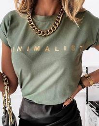 Majica - kod 4078 - maslinasto zelena