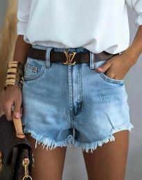 Kratke hlače - kod 4309 - 1 - svijetlo plava
