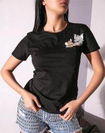 Majica - kod 2447 - 1 - crna