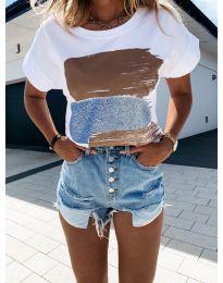Majica - kod 5522-3 - bijela