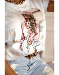 Majica - kod 4147 - bijela