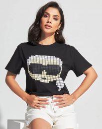 Majica - kod 6862 - 1 - crna