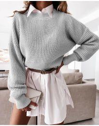 Džemper - kod 4180 - siva