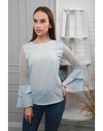 Bluza - kod 0643 - 4 - svijetlo plava