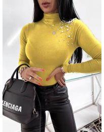 Polo bluza - kod 2552 - žutа