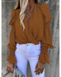 Bluza - kod 5451 - smeđa