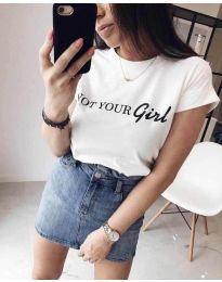 Majica - kod 3580 - 1 - bijela
