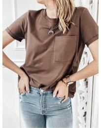 Majica - kod 3727 - smeđa
