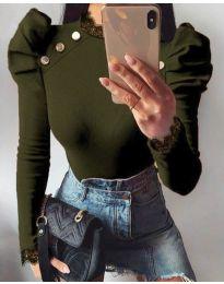 Bluza - kod 9630 - 2 - maslinasto zelena