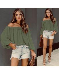 Bluza - kod 6674 - zelena