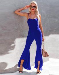 Елегантен дамски гащеризон в синьо - код 0910