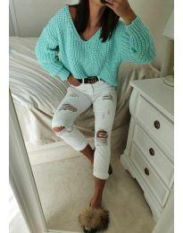 Bluza - kod 8768 - zelena