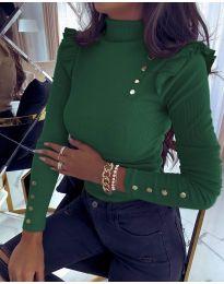 Bluza - kod 6566 - tamno zelena