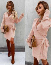 Haljina - kod 9846 - svijetlo ružičasta