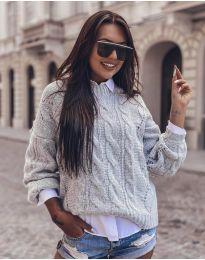 Džemper - kod 8780 - svijetlo siva