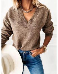 Bluza - kod 6012 - smeđa