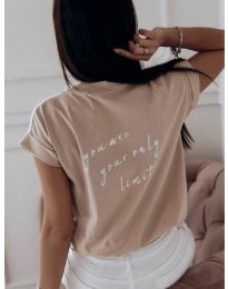 Majica - kod 3616 - kapućino
