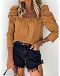 Bluza - kod 9906 - smeđa