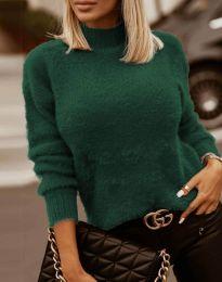 Polo bluza - kod 4798 - tamno zelena