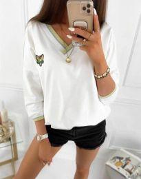 Bluza - kod 9173 - 2 - bijela