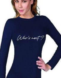 Bluza - kod 3339 - 1 - tamno plava
