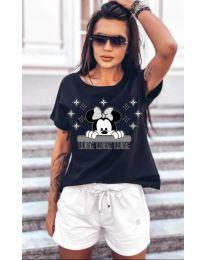 Majica - kod 5539 - crna