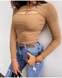 Bluza - kod 7780 - smeđa
