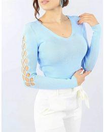 Bluza - kod 6776 - svijetlo plava
