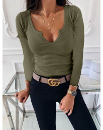 Bluza - kod 875 - maslinasto zelena