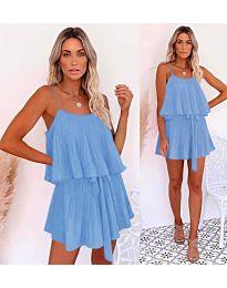 Slobodna haljina u svijetlo plavoj boji - kod 721