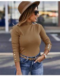 Bluza - kod 5259 - smeđa