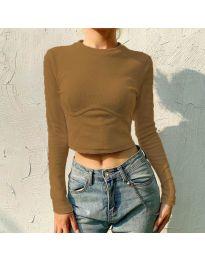 Bluza - kod 1124 - smeđa