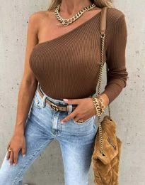 Bluza - kod 4830 - smeđa