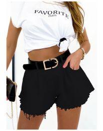 Kratke hlače - kod 4563  - 1 - crna