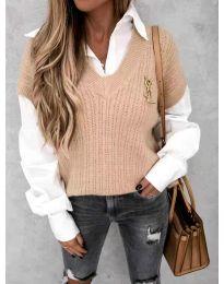 Džemper - kod 6653 - puder