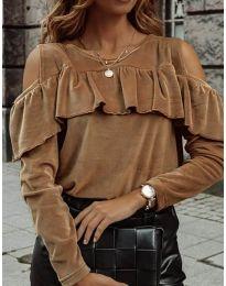 Bluza - kod 4111 - smeđa