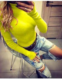 Bluza - kod 5256 - jarko žuta