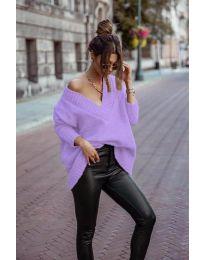 Džemper - kod 5952 - ljubičasta