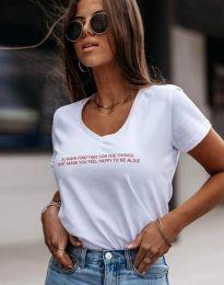Majica - kod 4457 - bijela