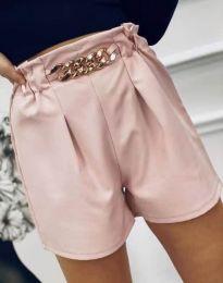 Атрактивни къси панталони в цвят пудра - код 2085