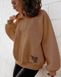Bluza - kod 4229 - smeđa