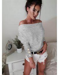 Bluza - kod 3732 - siva