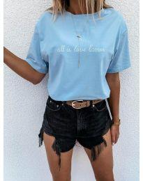 Majica - kod 36755 - svijetlo plava