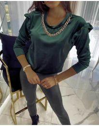 Bluza - kod 6189 - tamno zelena