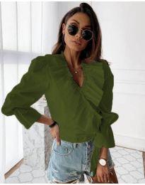 Košulja - kod 1167 - maslinasto zelena