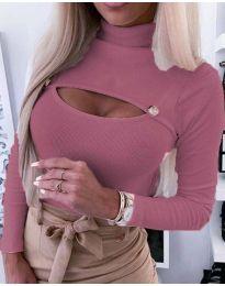 Bluza - kod 3501 - 4 - roze