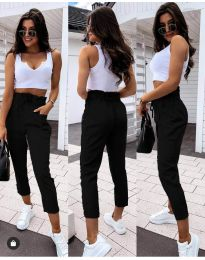 Спортно - елегантен панталон в черно - код 8585