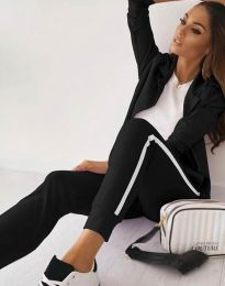 Дамски спортно-елегантен комплект в черно - код 5852 - лице