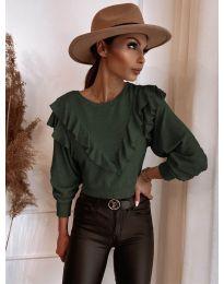Bluza - kod 7200 - maslinasto zelena