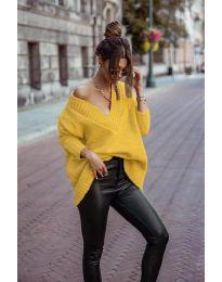 Džemper - kod 5952 - senf